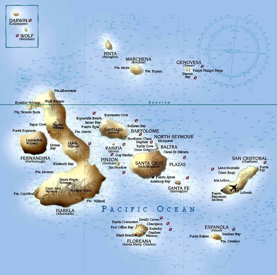 Galapagos Islands Map - Galapagos map