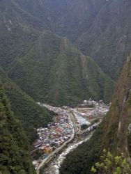 The village of Machu Picchu Town (formerly called Aguas Calientes)