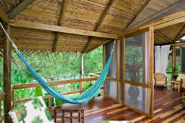 The spacious River View Suite includes a private terrace, Pacuare Lodge, Pacuare River, Costa Rica.