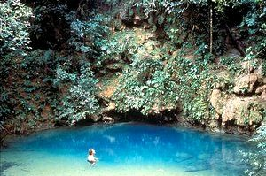 Take the plunge in the Blue Hole while staying at Hamanasi Lodge, Dangriga, Belize!