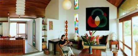 Living Room, Prima Villa, Xandari Plantation, Costa Rica